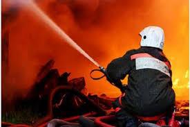 Пожар в бесхозном строении в г.Донецке