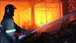 Пожар в складском помещении в Егорлыкском районе