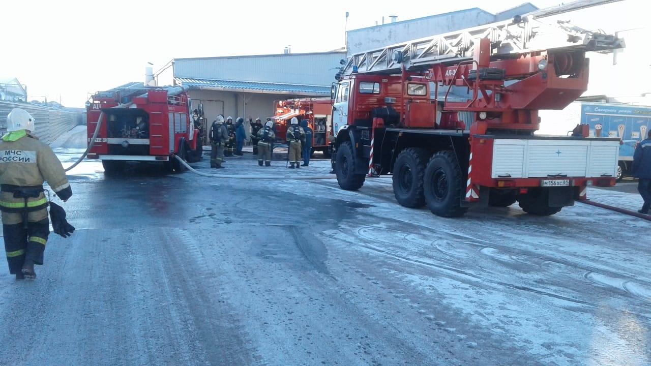 Пожар в производственном здании в г. Волгодонске