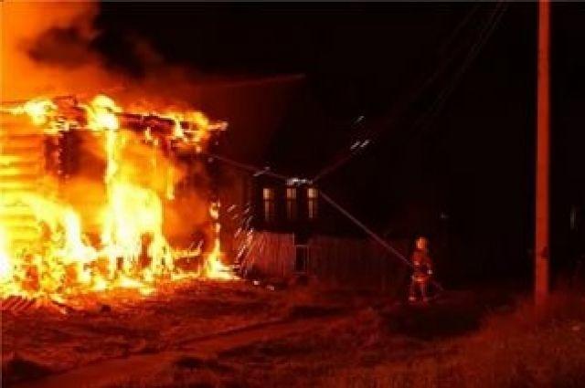Пожар в дачном доме в Орловском районе
