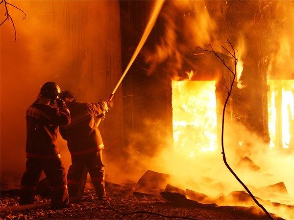 Пожар в частном домовладении в Егорлыкском районе