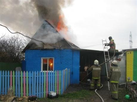 Пожар в частном доме в Орловском районе