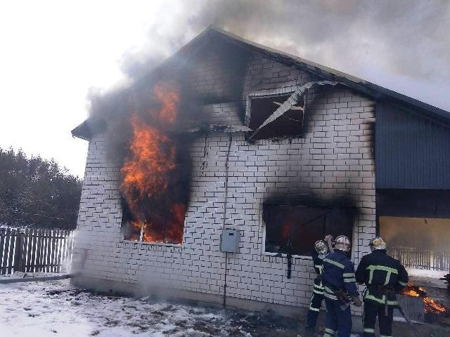 Пожар в частном домовладении в Боковском районе