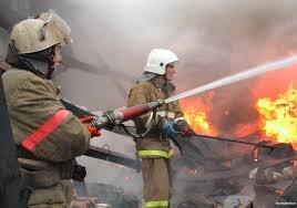 Пожар в частном домовладении в г. Шахты