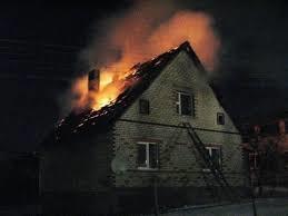Пожар в 2-х этажном жилом доме в г. Шахты