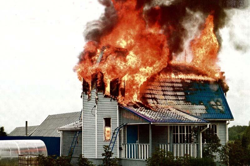 Пожар в частном жилом доме в Багаевском районе
