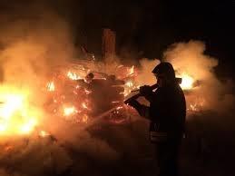 Пожар в бесхозном строении в Песчанокопском районе