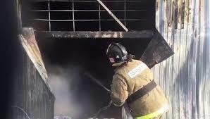 Пожар в хозяйственной постройке в Веселовском районе