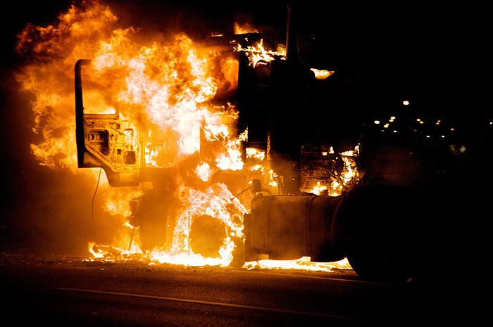 Возгорание трактора в Шолоховском районе