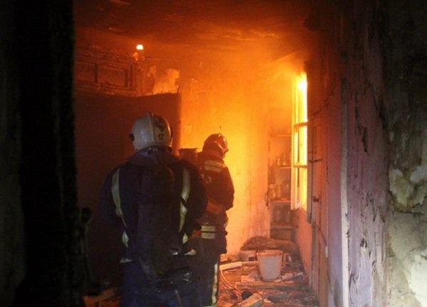 Пожар в частном домовладении в Кагальницком районе