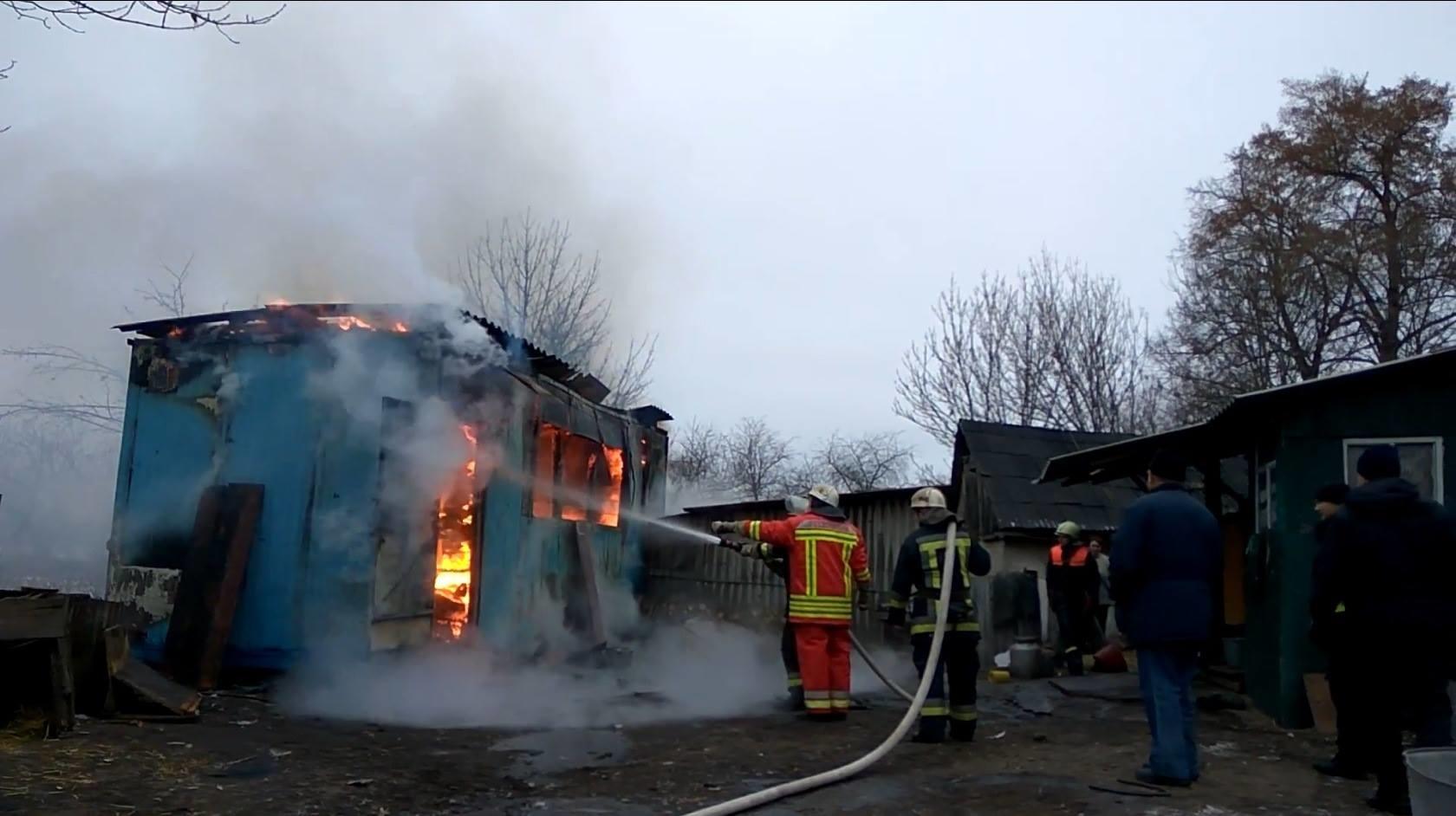 Пожар в бесхозном строении в г.Волгодонске
