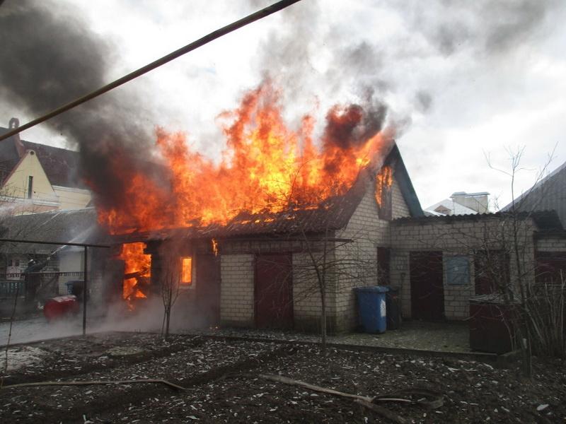 Пожар в частном доме в г. Донецке