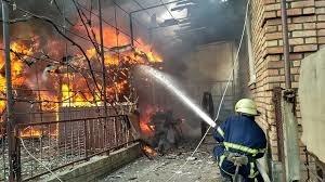 Пожар в хоз. постройке в Сальском районе