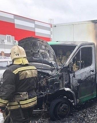 Возгорание автомобиля в Азовском районе