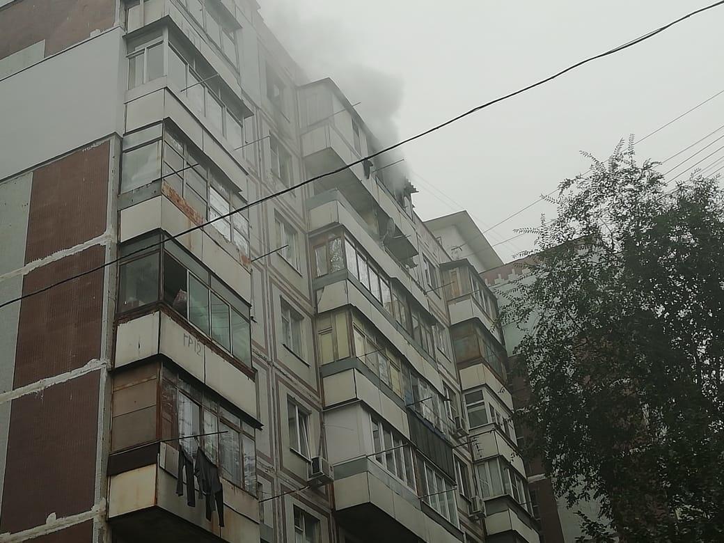 Пожар в многоквартирном жилом доме в г.Шахты