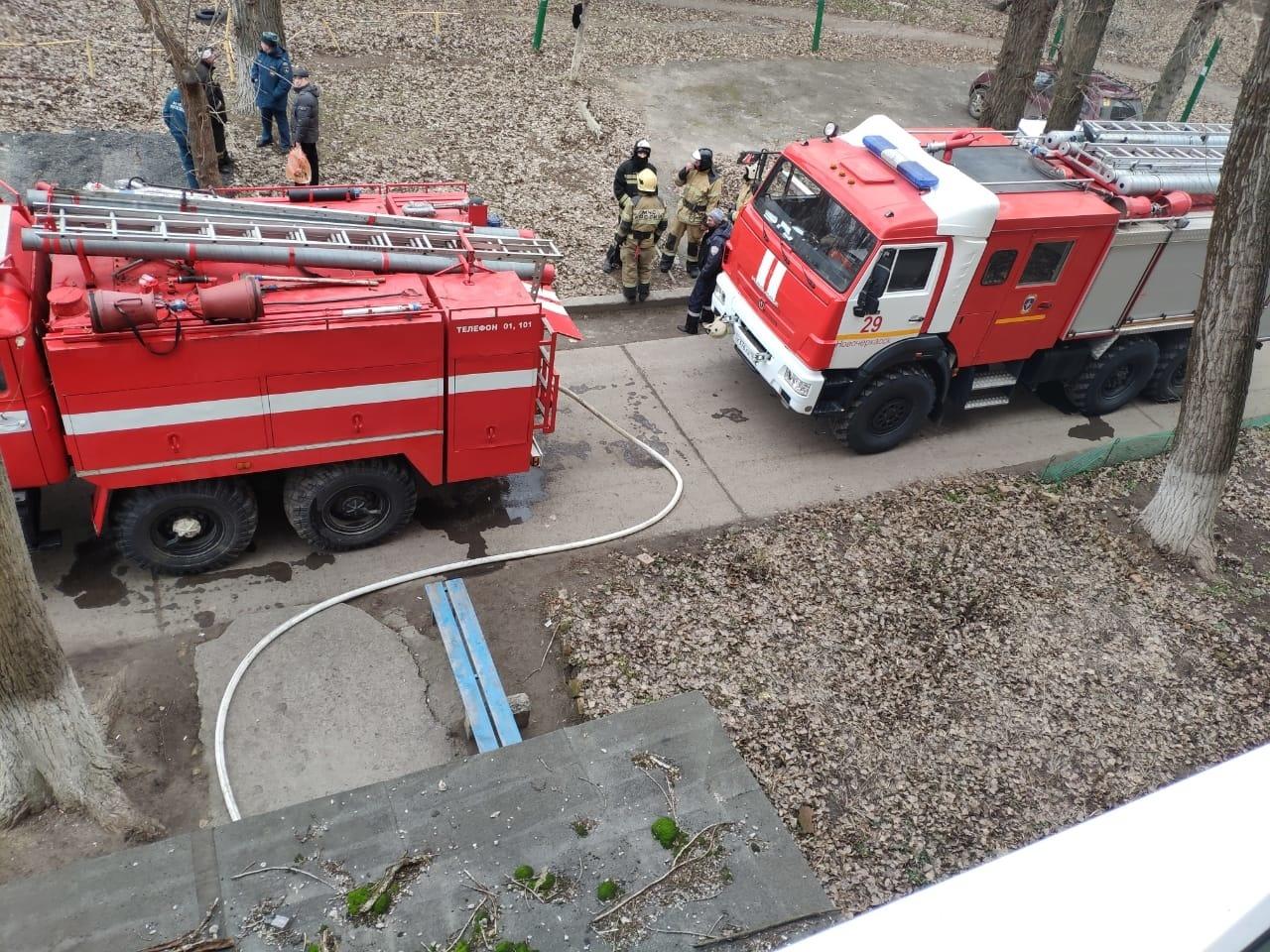 Пожар в многоквартирном доме в г. Новошахтинске