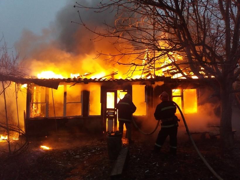 Пожар в летней кухне в г. Гуково